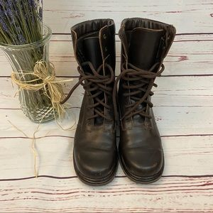 Enzo Anglolini Brown Lace Up Combat Boots 8